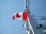 Ferry Ride to Vancouver Island: Canadian Flag