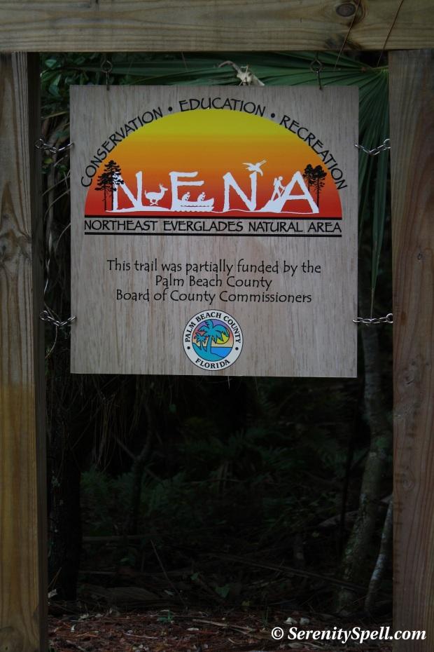 NENA Signage, Hog Hammock Trail, Grassy Waters Preserve, Florida