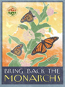 Monarch Watch Conservation Campaign Poster
