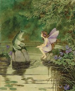 "Ida Rentoul Outhwaite - ""I Am Kexy, Friend to Fairies""; The Fairy - The Little Green Road to Fairyland, 1922"
