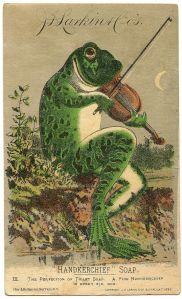 A wonderful vintage Larkin Advertising Card, featuring Mr. Frog